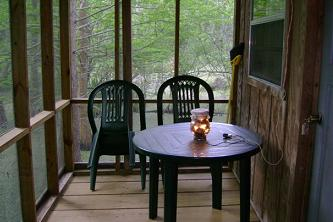 Screened Porch of Cabin